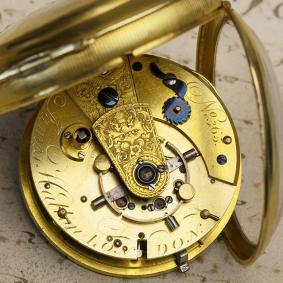 Early 1800s BRITISH Pivoted Detent Pocket Chronometer by James Hatton