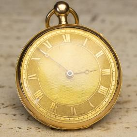 18k GOLD REPEATER Verge Fusee Antique Repeating Pocket Watch