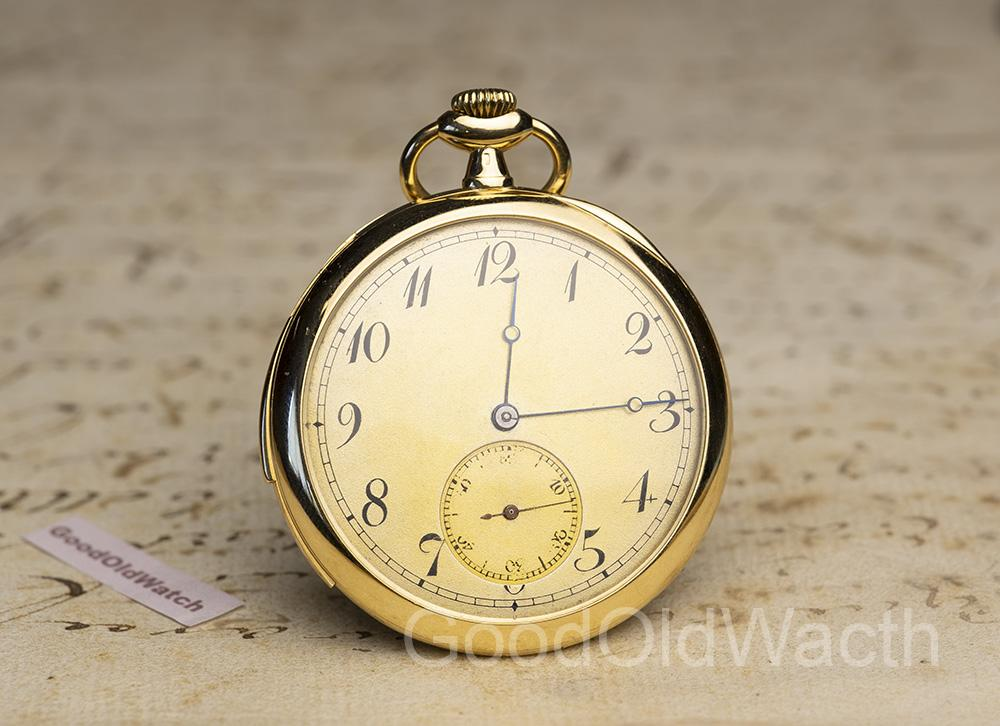 18k Gold Thin Minute Repeater Hi Grade Antique Repeating Pocket Watch