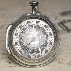 MARKWICK MARKHAM Ottoman Market Silver Pair Case Verge Antique Pocket Watch