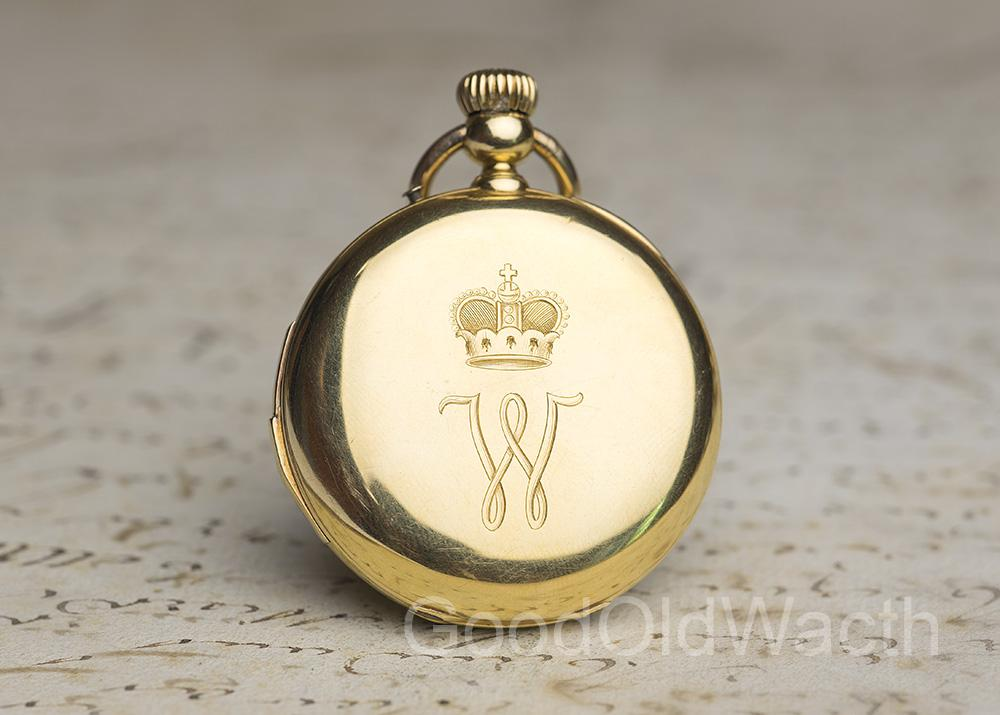 HI GRADE REPEATER 18k Gold Antique REPEATING Pocket Watch -PRINCE PROVENANCE