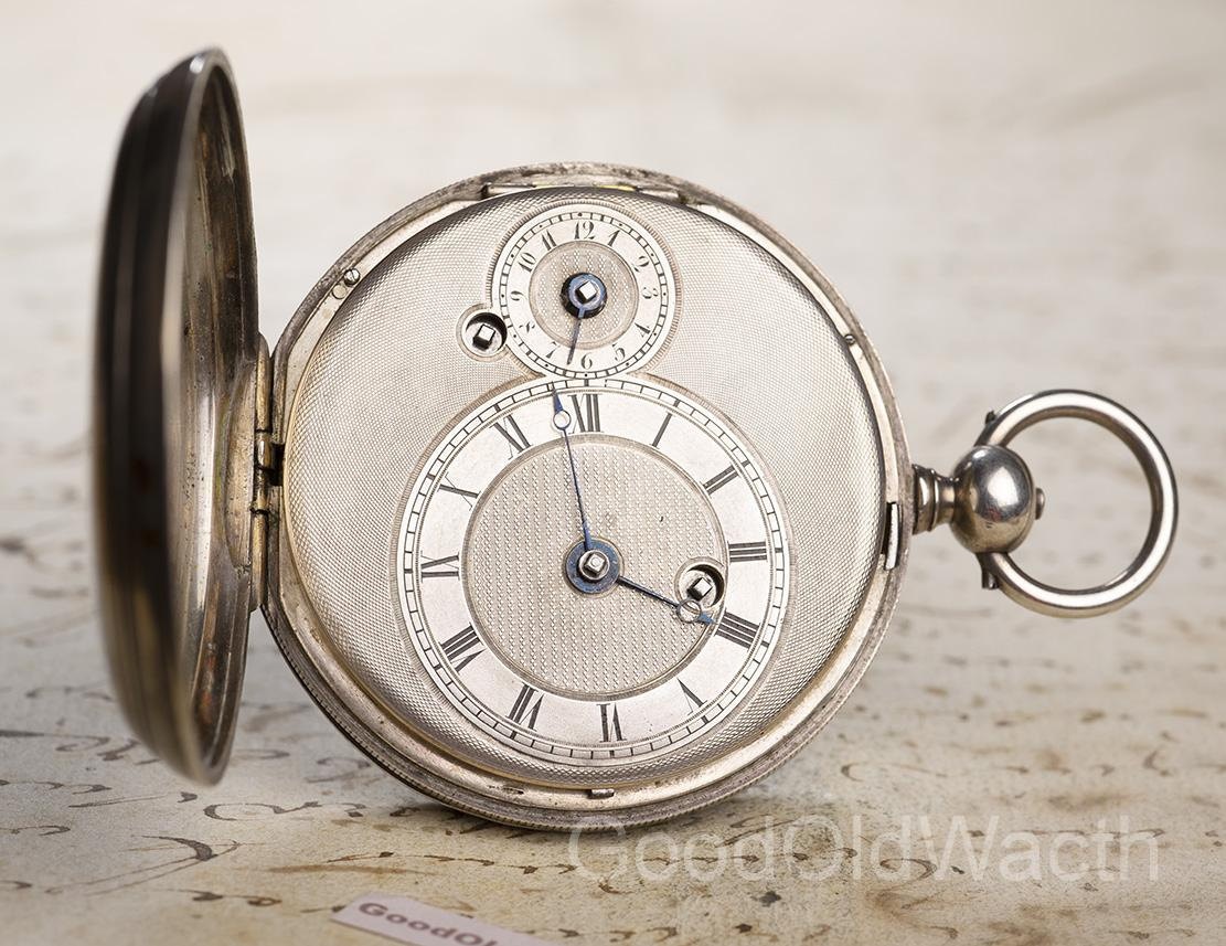 Ruby Cylinder Escapement Alarm Silver Pocket Watch