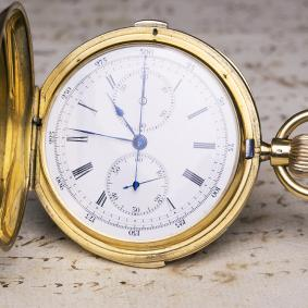 AUDEMARS PIGUET Hi Grade MINUTE REPEATER CHRONOGRAPH Gold Repeating Pocket Watch