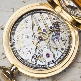 TIFFANY / Patek Philippe? Hi Grade 5 MINUTE REPEATER Gold Repeating Pocket Watch