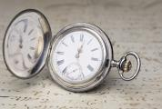 AUSTRIAN IMPERIAL PRESENTATION WATCH - Niello Silver Antique Pocket Watch