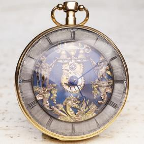 JACQUEMARTS AUTOMATON REPEATER VERGE FUSEE Gold Antique Repeating Pocket Watch