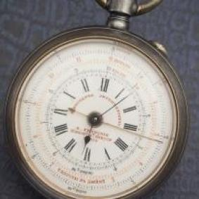 Rare WWI artillery chronometer watch with compass and curvimeter