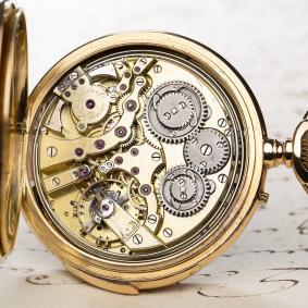 INDEPENDENT SECONDS & REPEATING Gold Antique Pocket Watch by E.J. Gondolo / Audemars