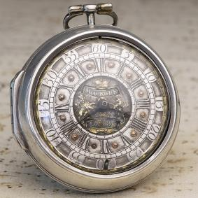 JAMES MARKWICK - 1700s Pair Cased Verge Fusee British Antique Pocket Watch
