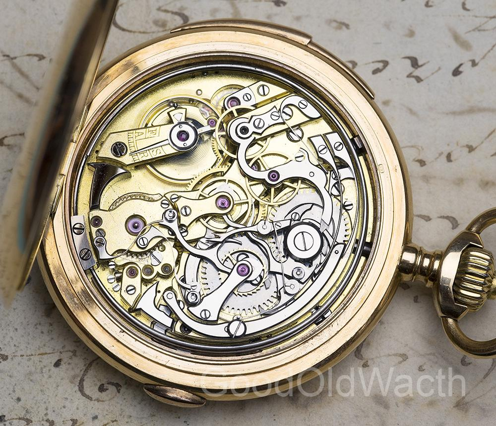 LECOULTRE Hi Grade MINUTE REPEATER CHRONOGRAPH Gold Repeating Pocket Watch