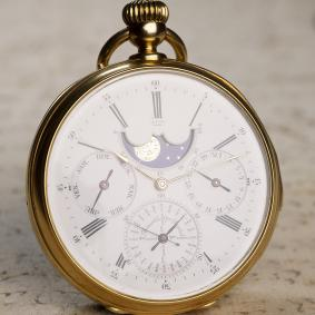 LOUIS AUDEMARS PERPETUAL CALENDAR REPEATER Solid Gold Antique REPEATING Pocket Watch