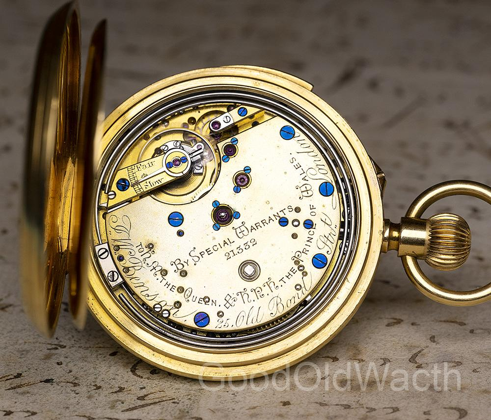 English REPEATER Solid Gold Antique REPEATING Pocket Watch by JW BENSON LONDON