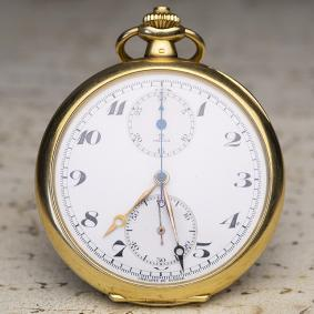 1930s OMEGA Gold Antique Pocket Chronograph Pocket Watch - cal. 39 CHRO
