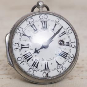 1710s OIGNON Verge Fusee Antique Pocket Watch MONTRE COQ SpindelTaschenuhr