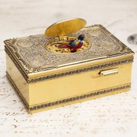 KARL GRIESBAUM MODEL 18 - SINGING BIRD BOX Antique Music Box Automaton