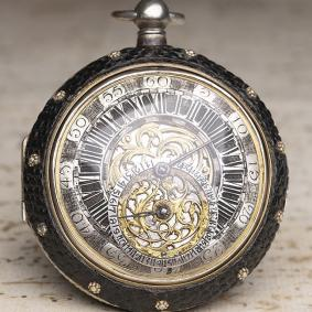 IOHN HEBERT - 1710s OIGNON Verge Fusee Antique Pocket Watch