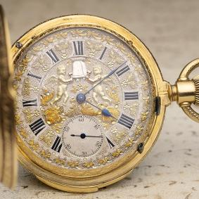 JACQUEMARTS AUTOMATON - HIGH GRADE  REPEATER Antique Pocket Watch