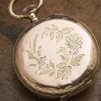 Beautiful Antique Solid 18k Gold Lady Pocket Pendant Watch