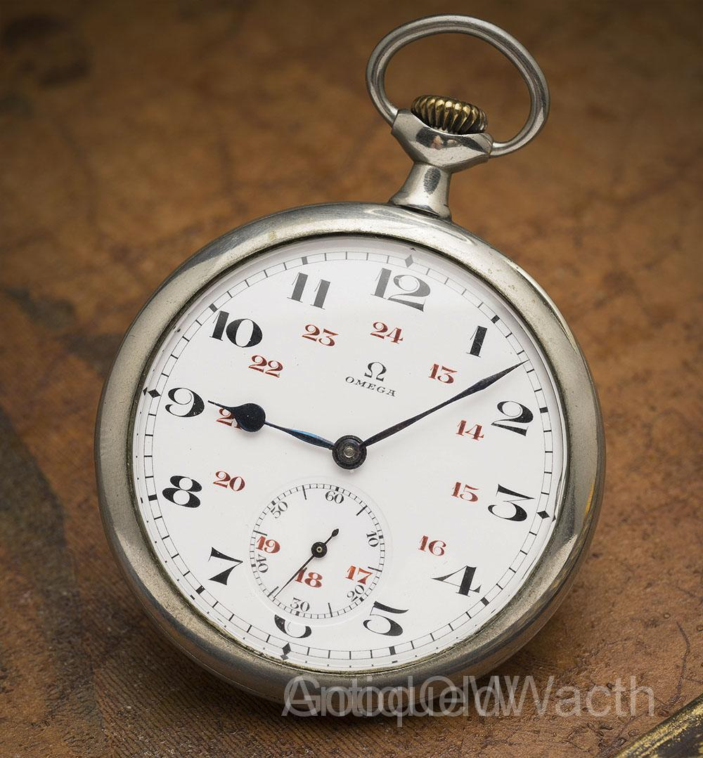 Beautiful Antique OMEGA Gents Pocket Watch Running