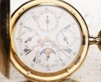 QUARTER REPEATER & TRIPLE CALENDAR w/ MOON PHASE Antique Pocket Watch
