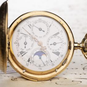 QUARTER-REPEATER--TRIPLE-CALENDAR-w%2F-MOON-PHASE-Antique-Pocket-Watch