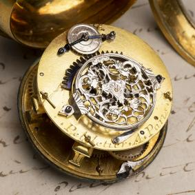 LOUIS-XIV-OIGNON-Verge-Fusee-Antique-Pocket-Watch-MONTRE-COQ-SpindelTaschenuhr