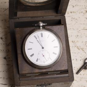 PIVOTED DETENT CHRONOMETER Antique Pocket Watch by ULYSSE BRETING LOCLE