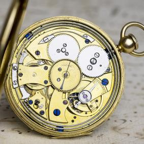 1830-EARLY-KEYLESS-WINDING-%2B-REPEATER-18k-GOLD-Antique-Repeating-Pocket-Watch