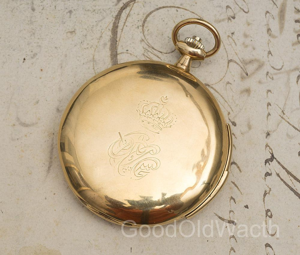 HI-GRADE MINUTE REPEATING 18k GOLD Antique Pocket Watch with ROYAL PROVENANCE