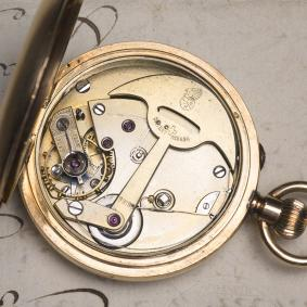 AUTOMATIC SELF WINDING SOLID 14k GOLD Antique Pocket Watch