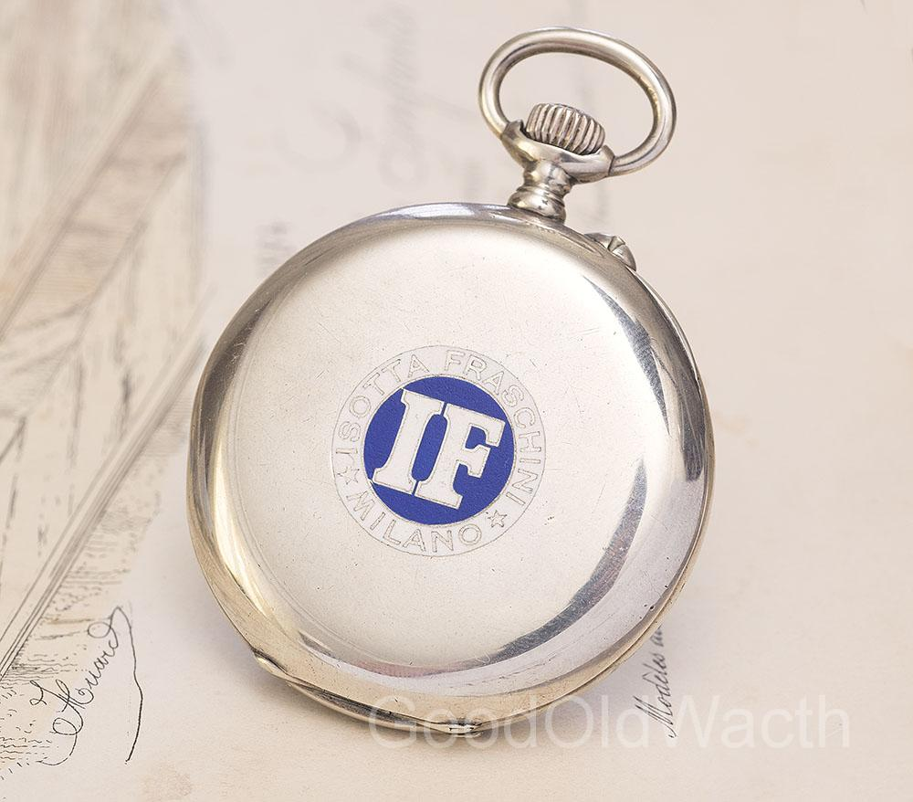 Antique 1910 LONGINES Sterling SILVER & ENAMEL Pocket Watch for ISOTTA FRASCHINI