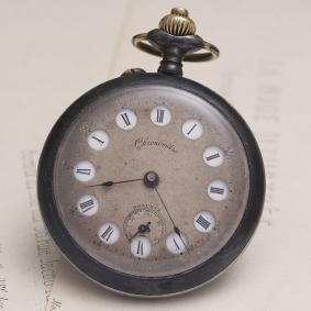 Antique RARE 12h / 24h JUMPING HOURS French Pocket Watch
