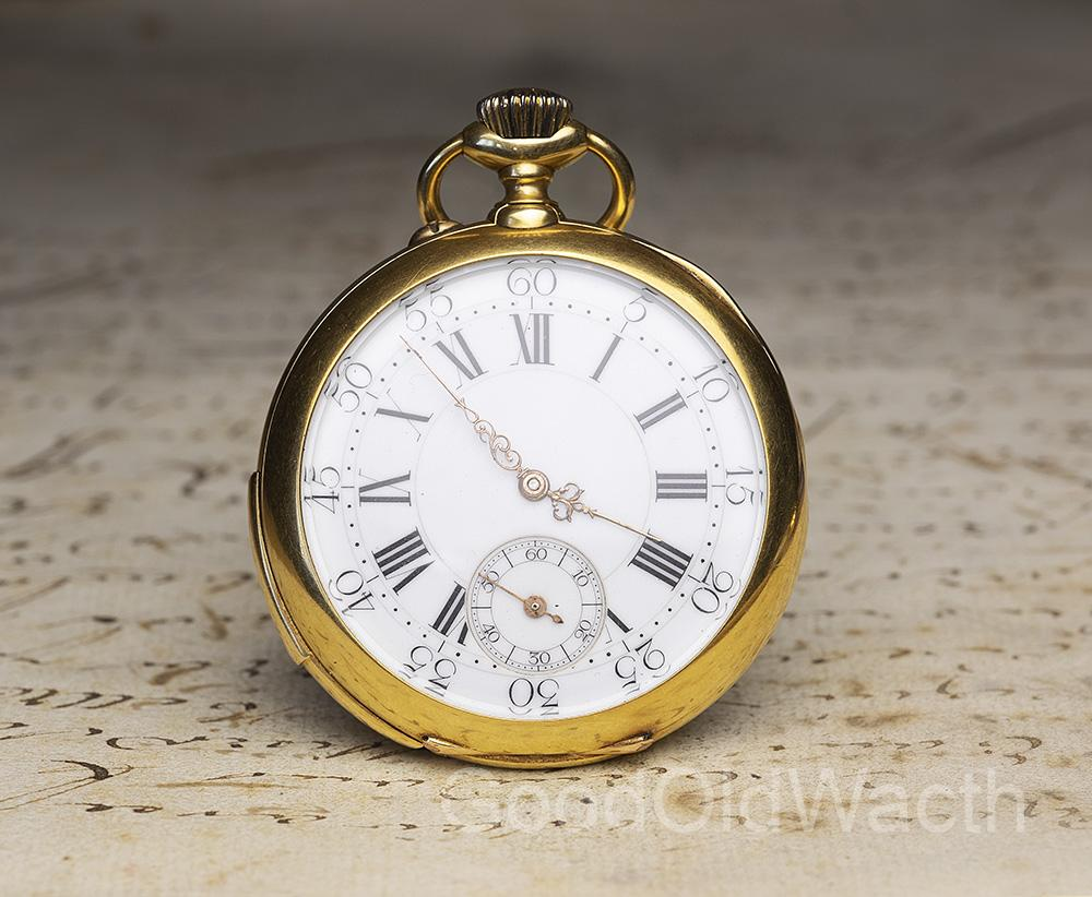 3 Hammers Carillon MINUTE REPEATER - 18k Gold Antique REPEATING Pocket Watch