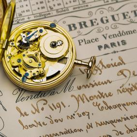 ABRAHAM LOUIS BREGUET early XIX Repeating Pocket Watch in gold case