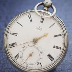 Antique British silver pocket watch
