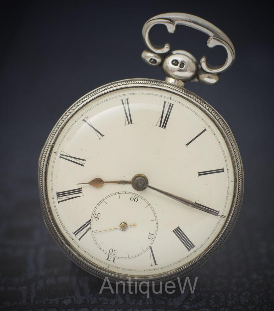 Nice Antique Solid Sterling Silver Gents Pocket Watch - Running