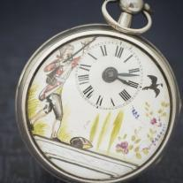 Beautiful Antique George III VERGE FUSEE Sterling Silver Pocket Watch