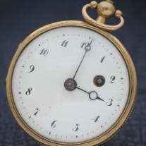 Antique solid gold French verge fusee Pocket Watch