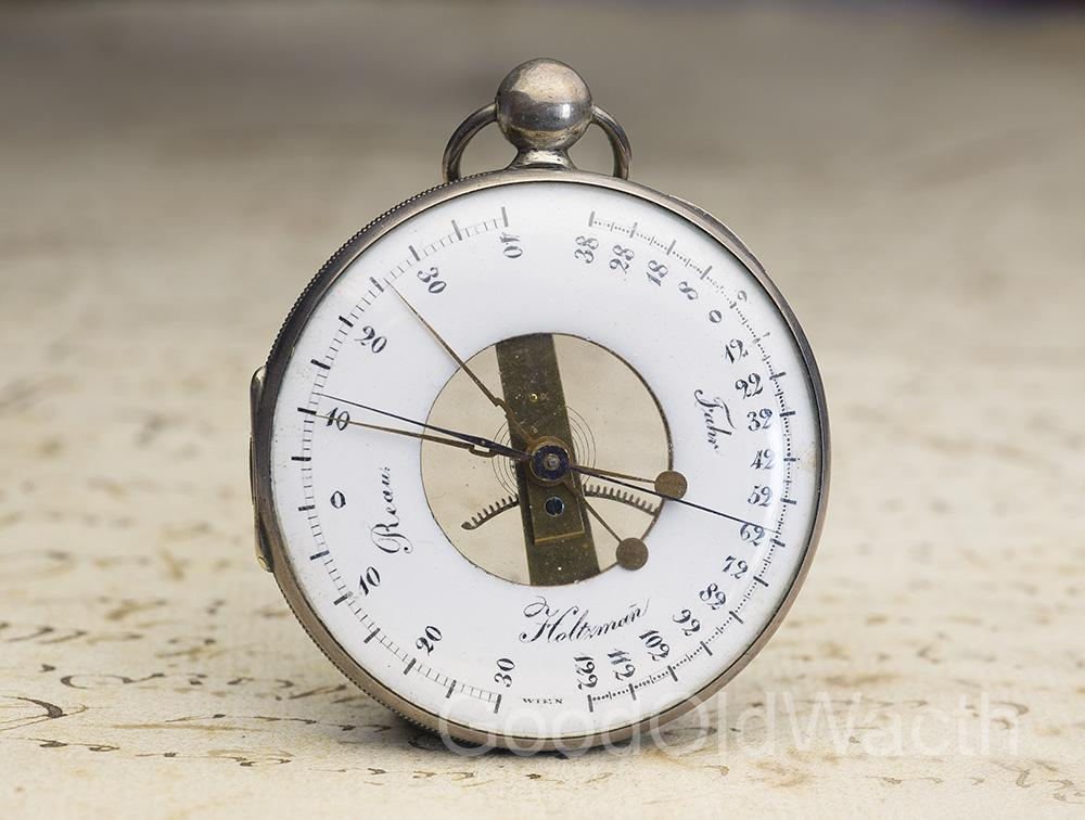 Rare Early XIX Réaumur Antique Pocket Thermometer by Johan Holzmann in Wien