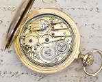 LECOULTRE Signed REPEATER 18k Gold Antique REPEATING Pocket Watch