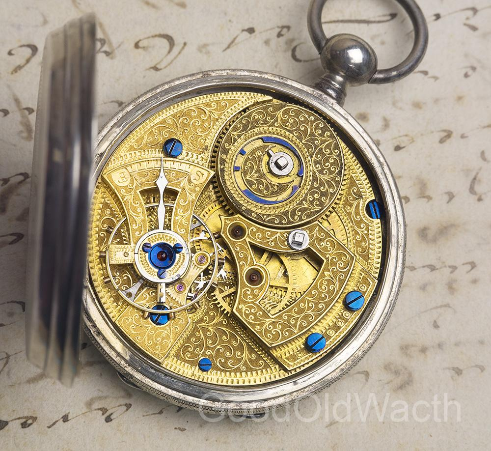 Rare LEVER-DUPLEX ESCAPEMENT Antique Pocket Watch for CHINESE MARKET
