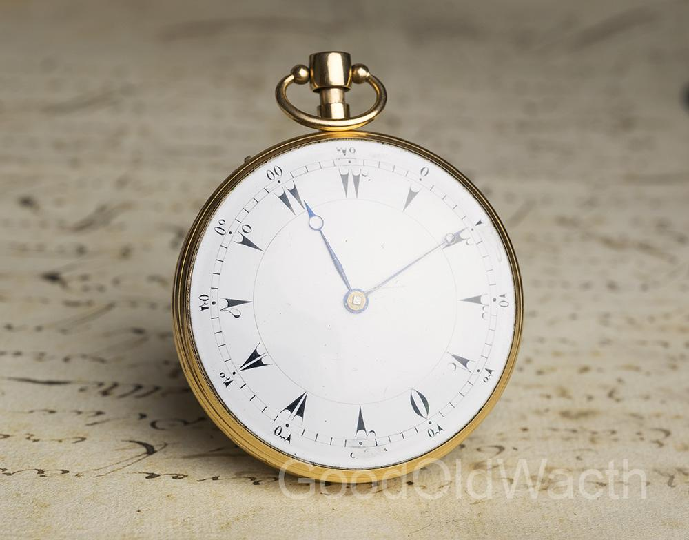 MUSICAL REPEATER Solid GOLD Repeating Antique Pocket Watch