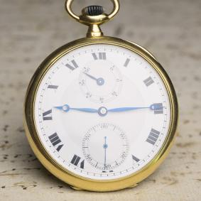 Power Reserve CERTIFIED CHRONOMETER 18k Gold Antique Pocket Watch