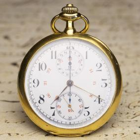 1910s OMEGA Gold Antique Pocket Chronograph Pocket Watch - cal. 18 CHRO