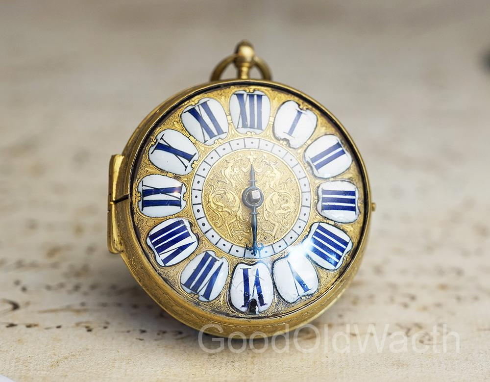 1700 SINGLE HANDED LOUIS XIV OIGNON Verge Fusee Antique Pocket Watch