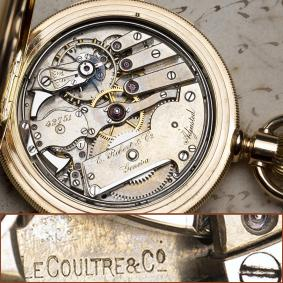 LECOULTRE Hi Grade FIVE MINUTE REPEATER Gold Repeating Pocket Watch