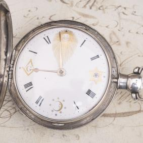 MASONIC Symbolics British antique pocket watch