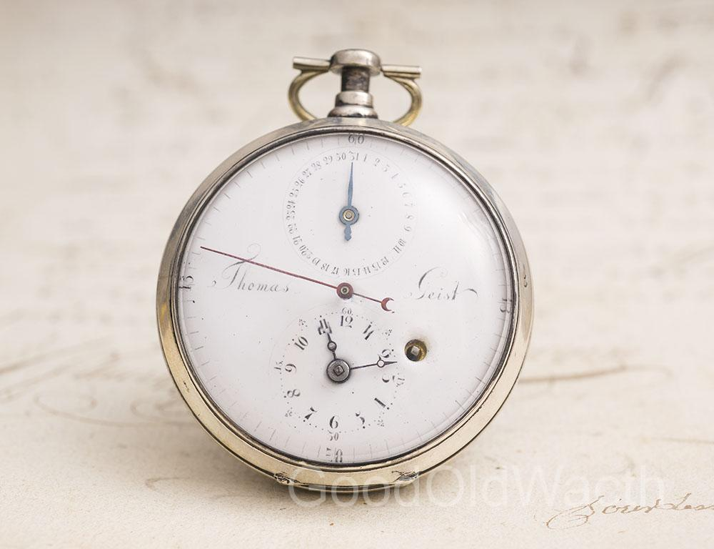 Rare late XVIII POUZAIT lever escapement - German Antique Pocket Watch