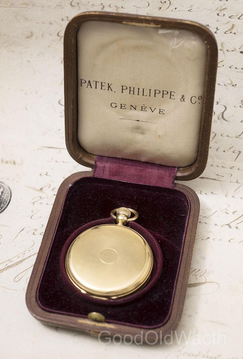 Early 1860 PATEK PHILIPPE Keyless Antique Gold Pocket Watch