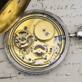 Rare MARTIN-POUZAIT lever escapement REPEATING Antique Pocket Watch